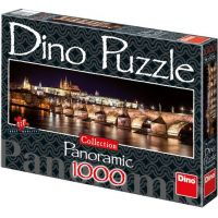 Dino Puzzle Collection Panoramic Hradčany v noci 1000 dílků
