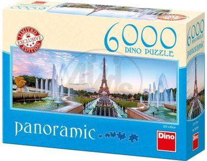 Dino Puzzle Panoramic Pohled na Eiffelovku 6000 dílků
