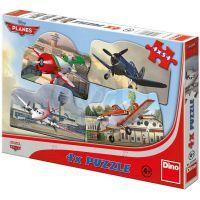 Dino 333086 - Puzzle Planes 4 x 54 dílků v krabici