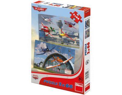 DINO 385115 - Puzzle Planes Dusty a přátelé 2 x 66 dílků