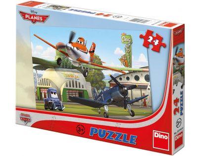 Dino Puzzle Planes U hangáru 24 dílků