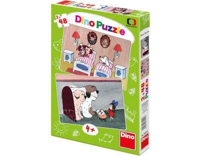 Dino Puzzle Pohádky s pejsky 2 x 48 dílků