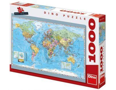 Dino Puzzle Politická mapa světa 1000 dílků