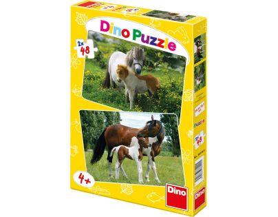 Dino Puzzle Poníci a koníci 2x48 dílků