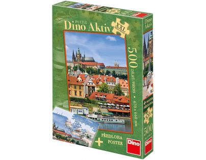 DINO 514010 - Puzzle 500 dílků (AKTIV) - Pražský hrad