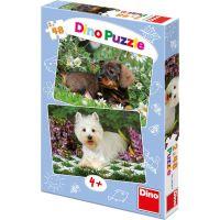 Dino Puzzle Psí kamarádi 2x48 dílků