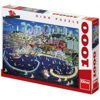 Dino Puzzle San Francisco 1000 dílků