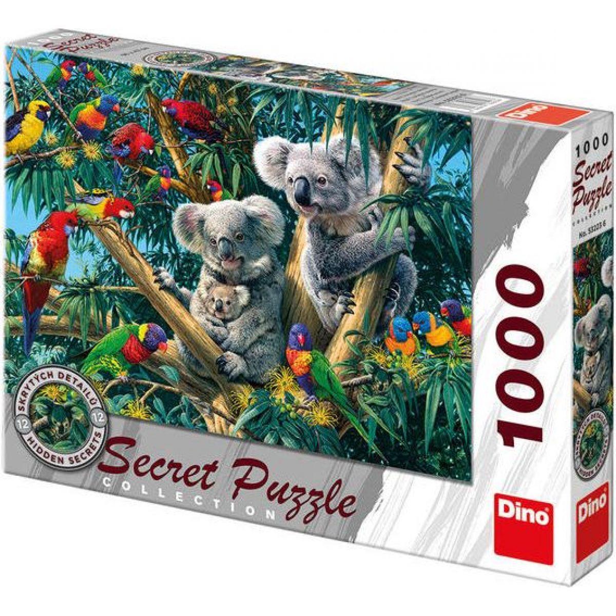 Dino Puzzle Secret Collection Koaly 1000 dílků