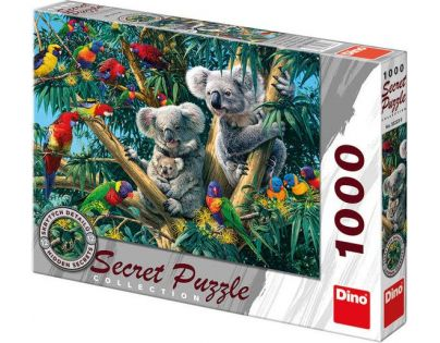 Dino Puzzle Secret Collection Koaly 1000 dílků