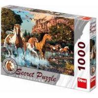Dino Puzzle Secret Collection Koně 1000 dílků