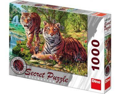 Dino Puzzle Secret Collection Tygři 1000 dílků