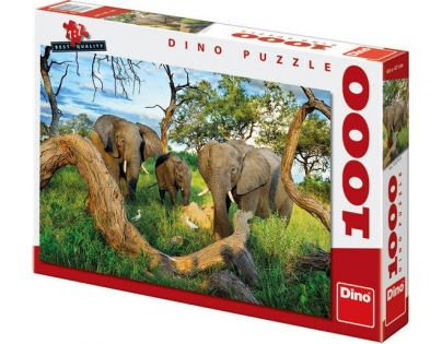 Dino Puzzle Sloni z Botswany 1000 dílků