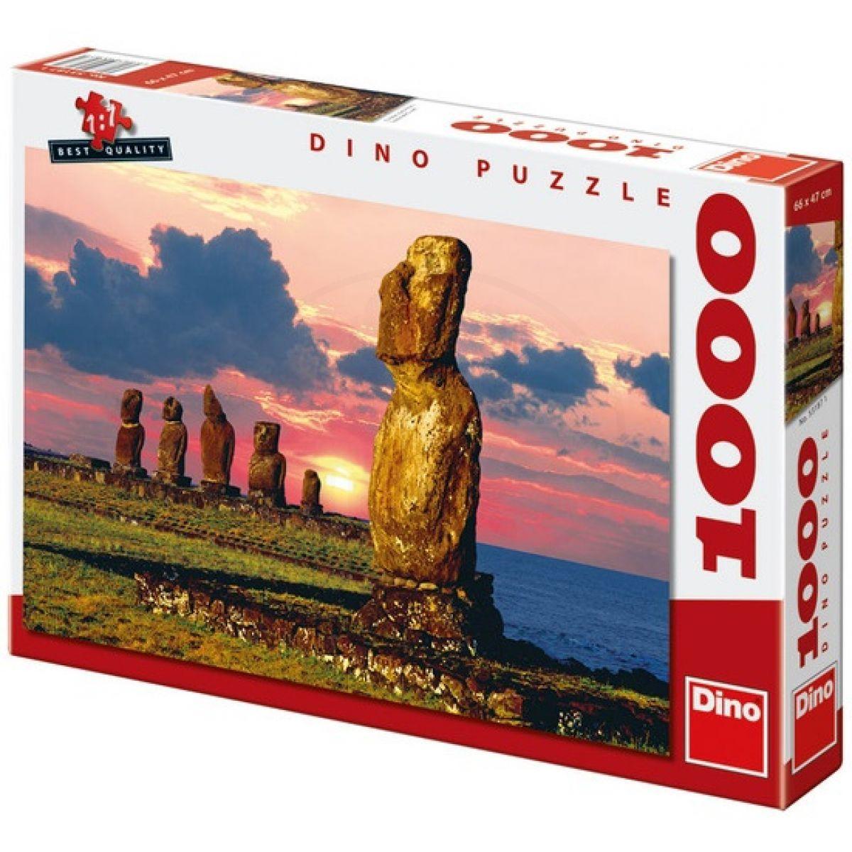 Dino Puzzle Velikonoční ostrovy 1000 dílků
