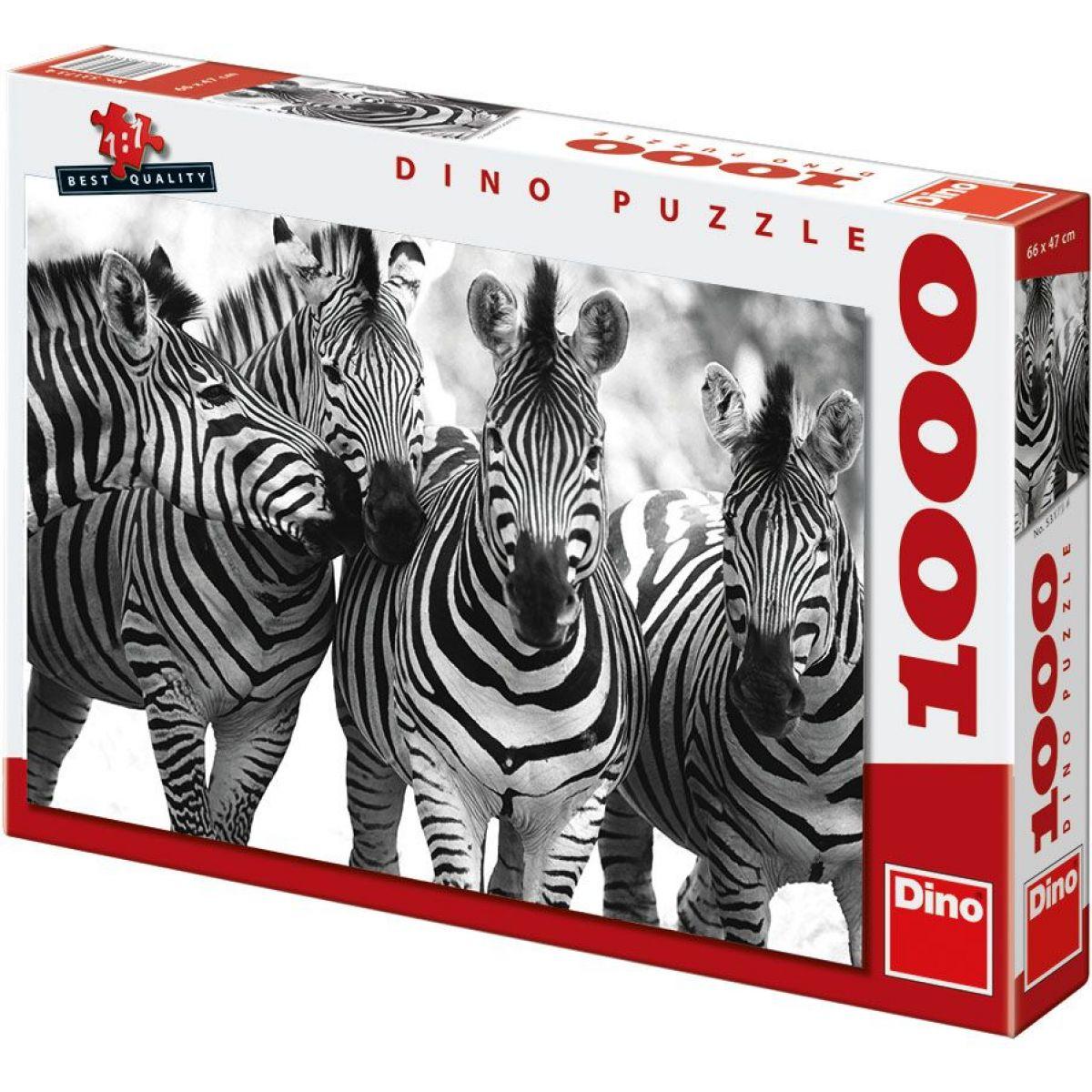 DINO 531833 - Puzzle Zebry (1000 dílků)