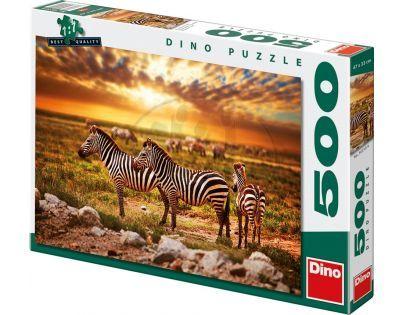 Dino Puzzle Zebry na savaně 500 dílků