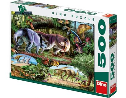 Dino Puzzle Země dinosaurů 500 dílků