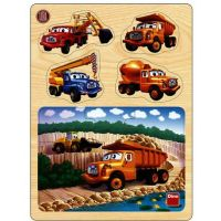 Dino Tatra dřevěné puzzle v lomu 13 dílků