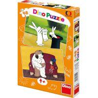 Dino Večerníček Puzzle Večerníčky 2 x 48 dílků