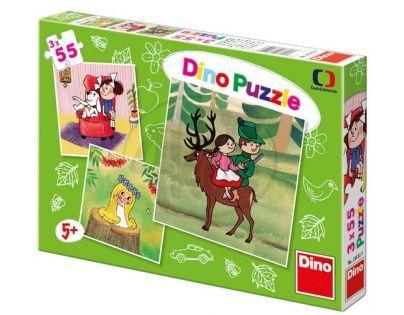 Dino Večerníček Puzzle České pohádky 3 x 55 dílků