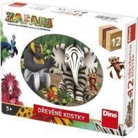 Dino Zafari 12 dřevěných kostek