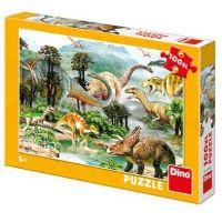 Dino Život dinosaurů Puzzle 100 XL dílků