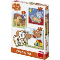 Dino Zvířátka 3 - 5 baby puzzle set