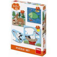 Dino Zvířátka Kde žijí baby puzzle set