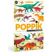 Poppik Samolepkový plakát vzdělávací Dinosauři