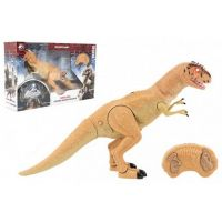 Dinosaurus chodící IC velociraptor 50 cm se zvuky a světly oranžový