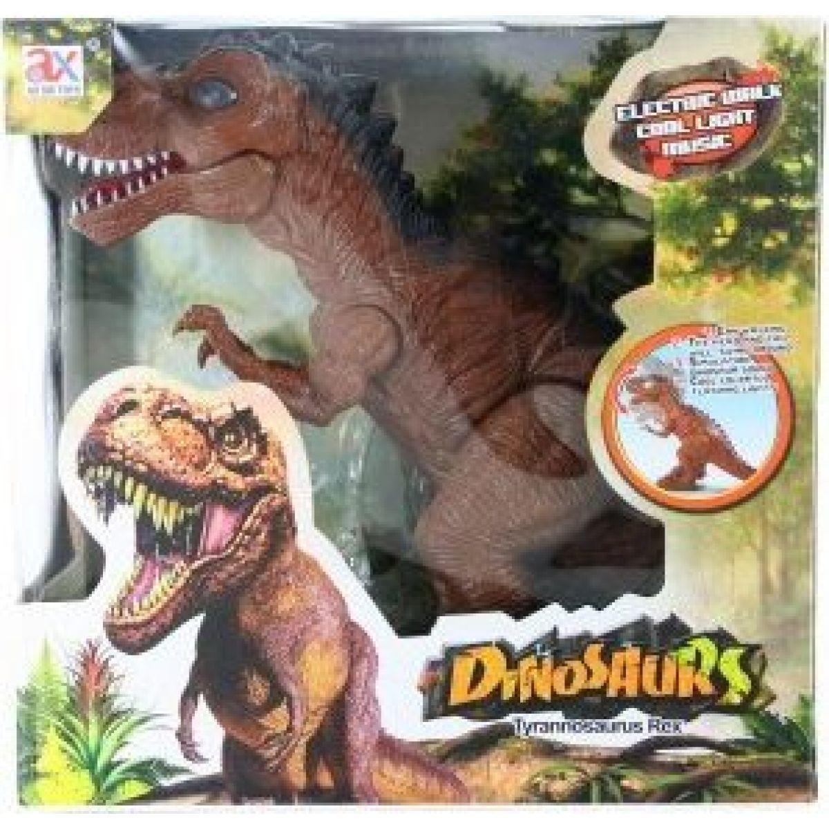 Dinosaurus chodící se zvukovými efekty