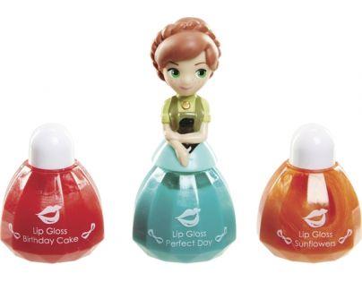 Disney Frozen Little Kingdom Make up pro princezny - Anna zelená a lesky na rty