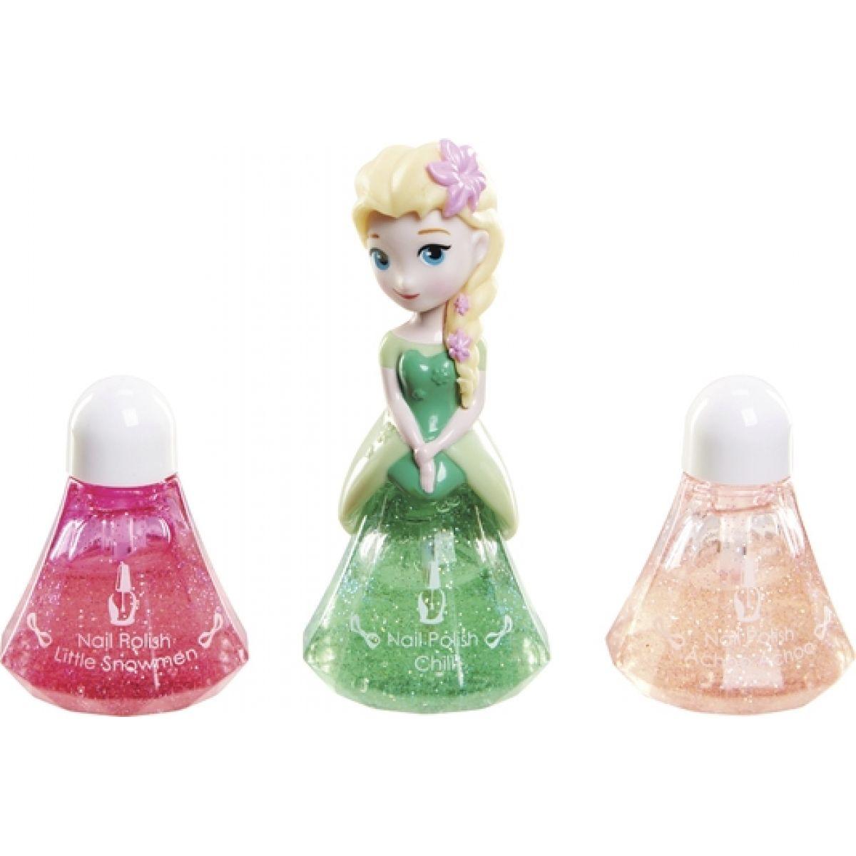 Disney Frozen Little Kingdom Make up pro princezny - Elsa zelená a laky na nehty