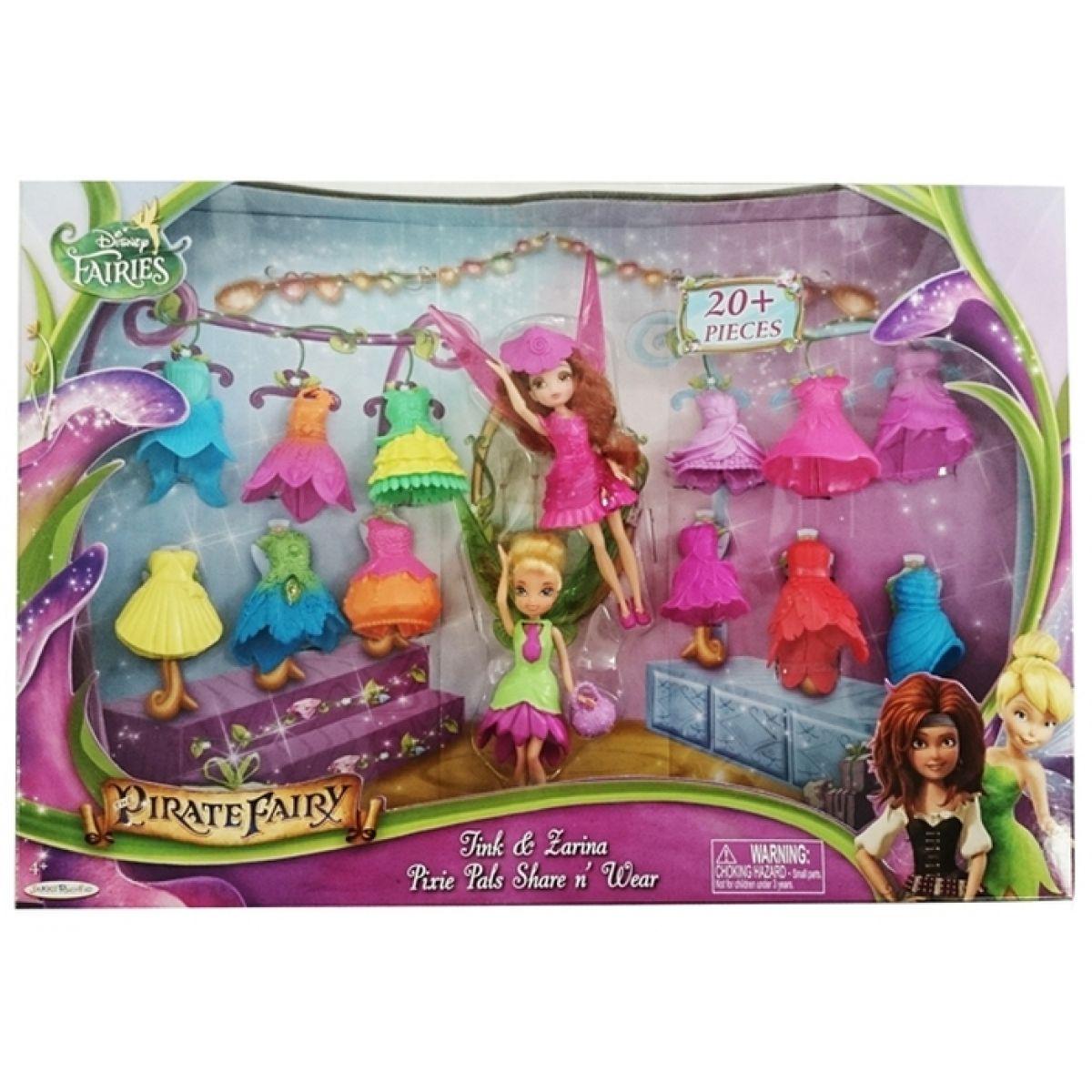 Disney Víly: 11 cm panenka a modní doplňky 2v1 - Zvonilka a Zarina