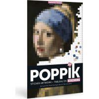 Poppik Samolepkový plakát Dívka s perlovými náušnicemi