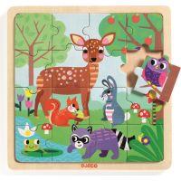 Djeco Dřevěné puzzle Lesní zvířatka
