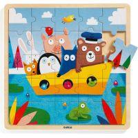 Djeco Dřevěné puzzle Loďka