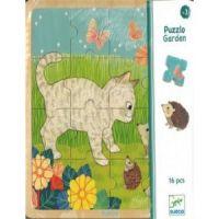 Djeco Drevené puzzle Na záhrade 2