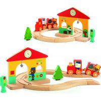 Djeco Dřevěný set Železnice