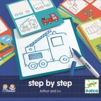 Djeco Kreslení krok za krokem Auta