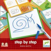Djeco Kreslení Krok za krokem Zvířátka