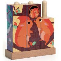 Djeco Navlékací puzzle V lese