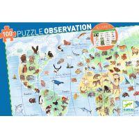 Djeco Obrazové puzzle Zvířata ve světě