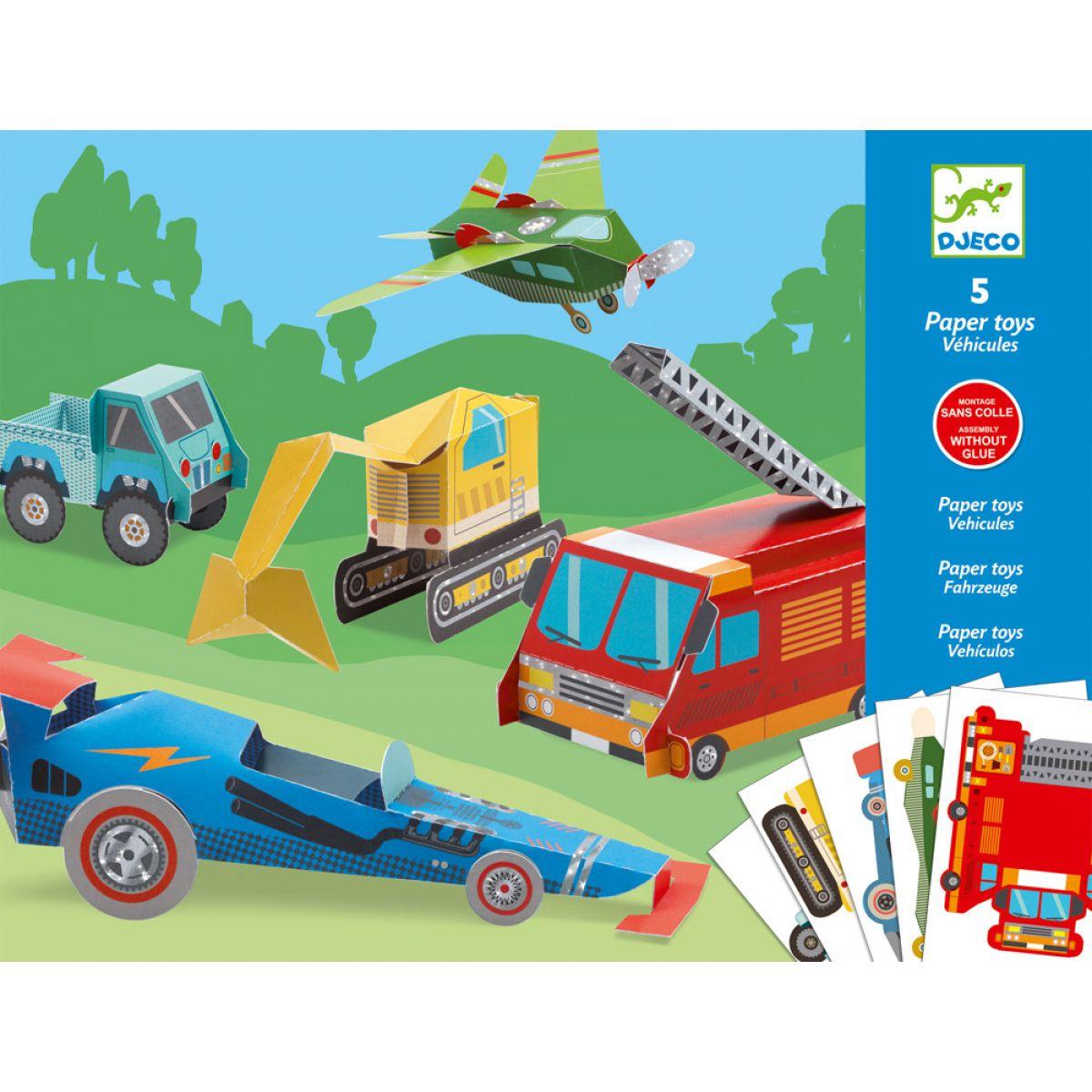 Djeco Origami skládačka Dopravní prostředky