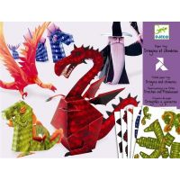Djeco Origami skládačka Draci