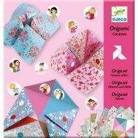 Djeco Origami skládačka Nebe peklo ráj Dívčí