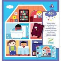 Djeco Premiestniteľné samolepky pre najmenších Domov