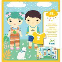 Djeco Premiestniteľné samolepky pre najmenších Oblečenie