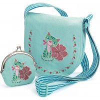 Djeco Set kabelka a peňaženka Modrá mačička - Poškodený obal