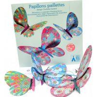DJECO Třpytivá dekorace Létající motýlci