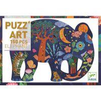Djeco Velké puzzle Pohádkový slon 150 dílků